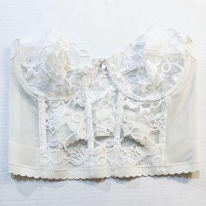 Vintage Victoria's Secret White Lace Bra Bustier